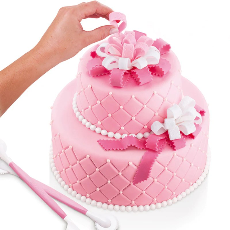 Free 4 Pcs Kit Sugarcraft Fondant Cake Decorating Modelling Tools