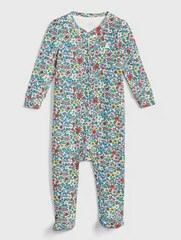 Gap First Favorite Floral Footed One-Piece