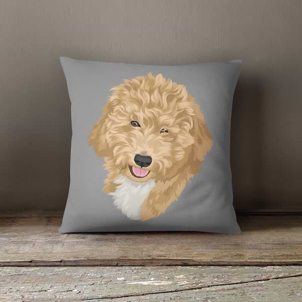 custom pet pillow with cover
