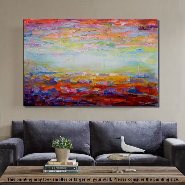 canvas painting living room