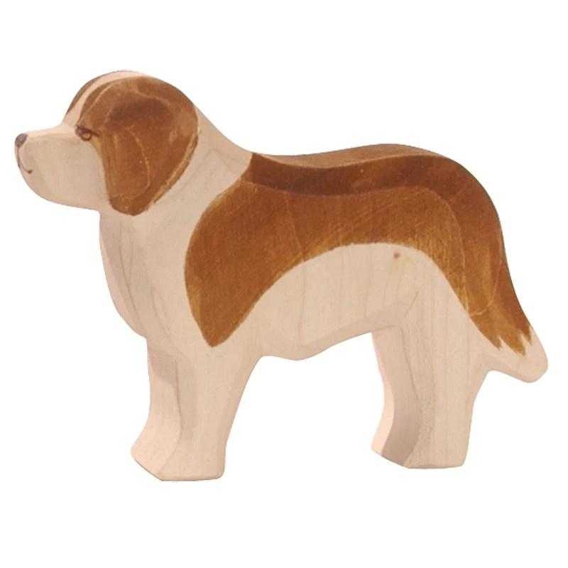 Dog St Bernard Family Farm Ostheimer Wooden Toys
