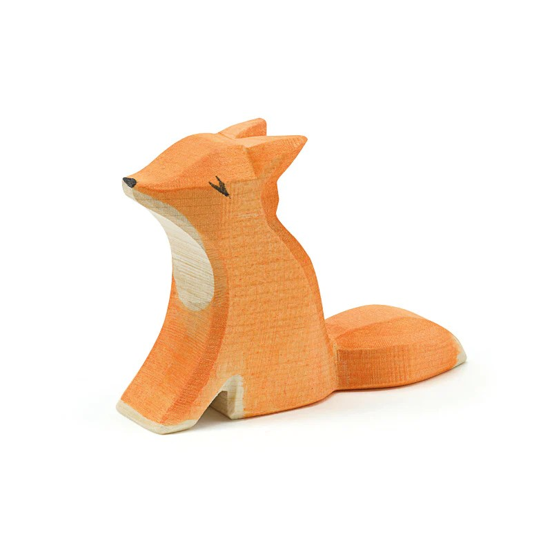 Fox Small Sitting Forest Meadow Ostheimer Wooden Toys