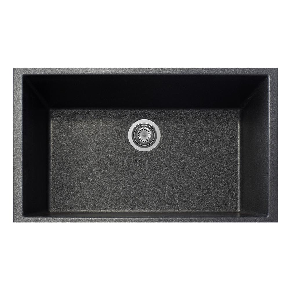 latoscana plados 33 undermount single bowl kitchen sink black on8410st 44