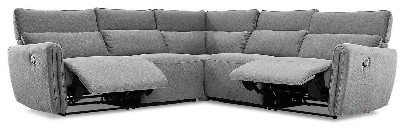 larsen 5 piece reclining sectional grey