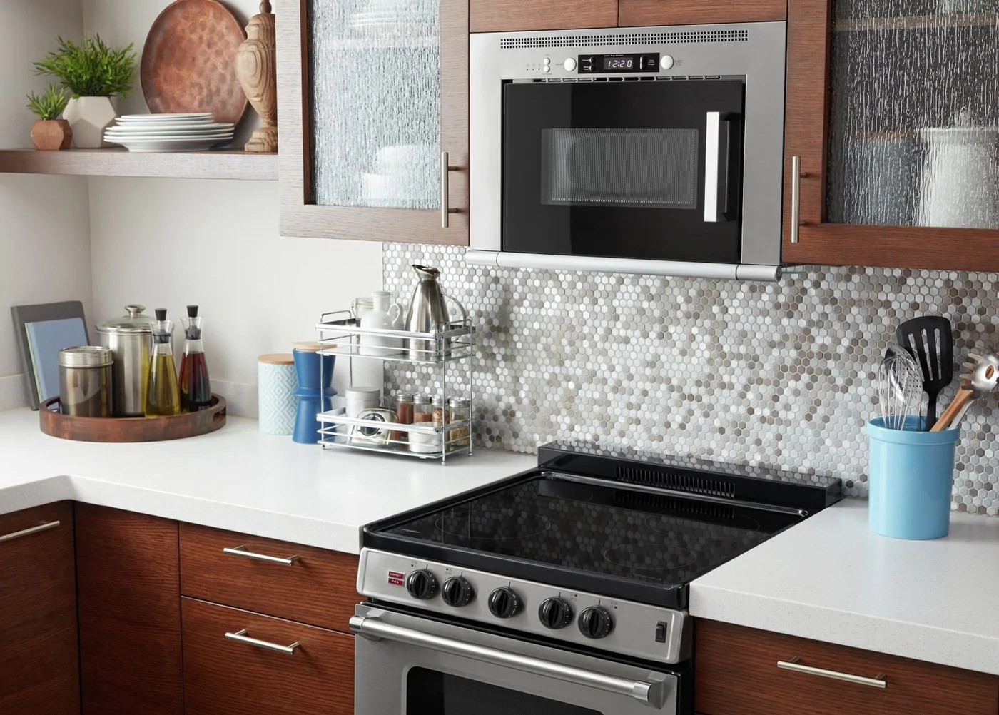 unbranded stainless steel over the range microwave and hood combination 0 8 cu ft umh50008hs