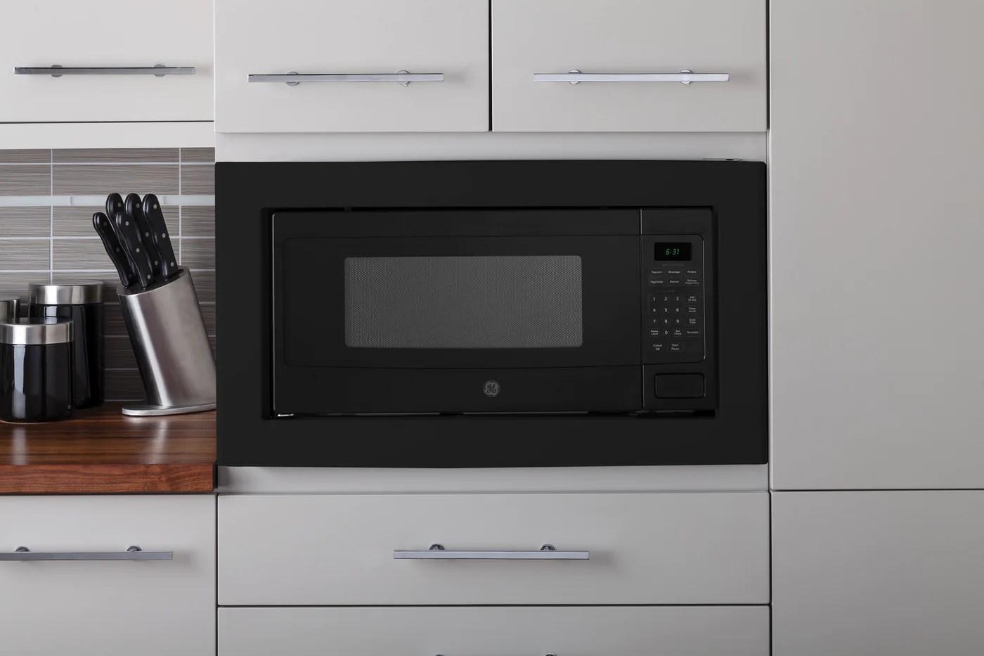 ge profile black 30 inch microwave built in trim kit jx830bfc