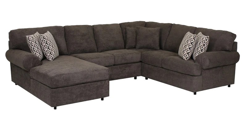sectional sofa couch average length of a sectionals leon s covina 4 piece with left facing chaise carbon