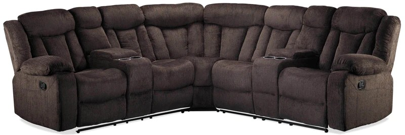 sectional reclining leather sofas floor cushion sofa canada sectionals leon s bryndle 3 piece charcoal