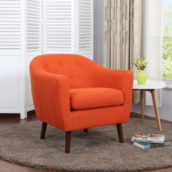 Cool Living Room Chairs Decorating With Dark Brown Couches Leon S Zia Accent Chair Orange