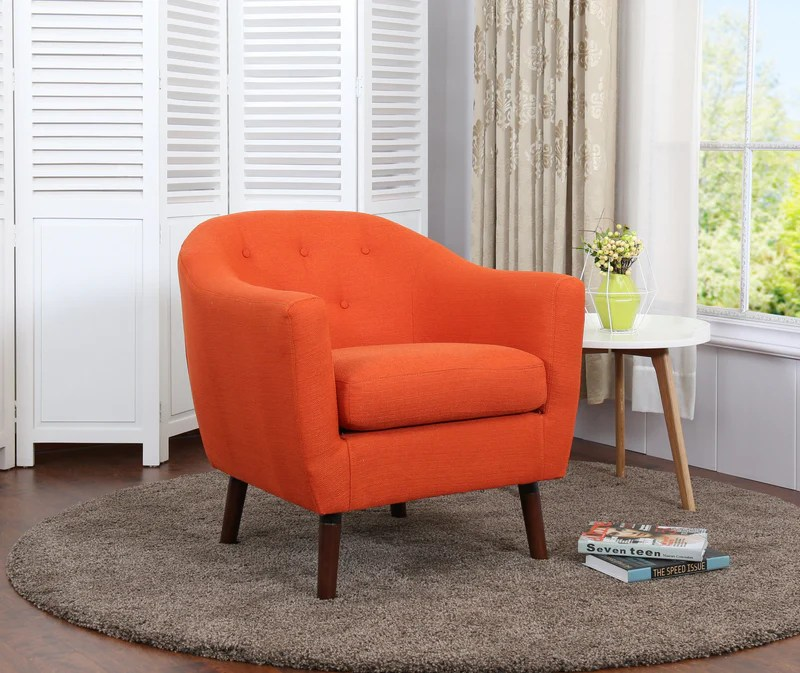 chair in living room ideas uk no fireplace chairs leon s zia accent orange