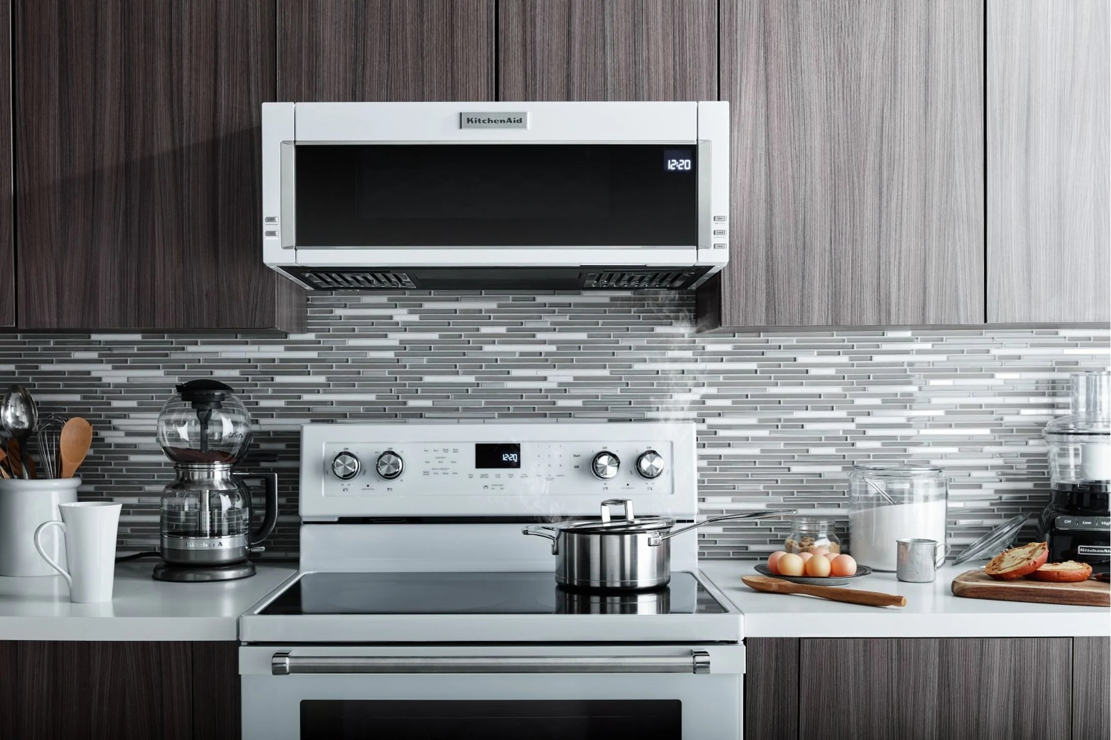 kitchenaid white low profile over the range microwave and hood combination 1 1 cu ft ykmls311hwh