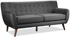sofa bed next day delivery london contemporary leather sofas living room leon s heather dark grey