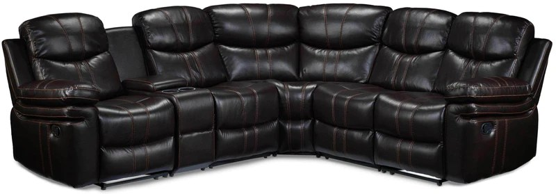 sectional reclining leather sofas cheap wooden sofa set philippines sectionals leon s layla 6 piece chocolate brown