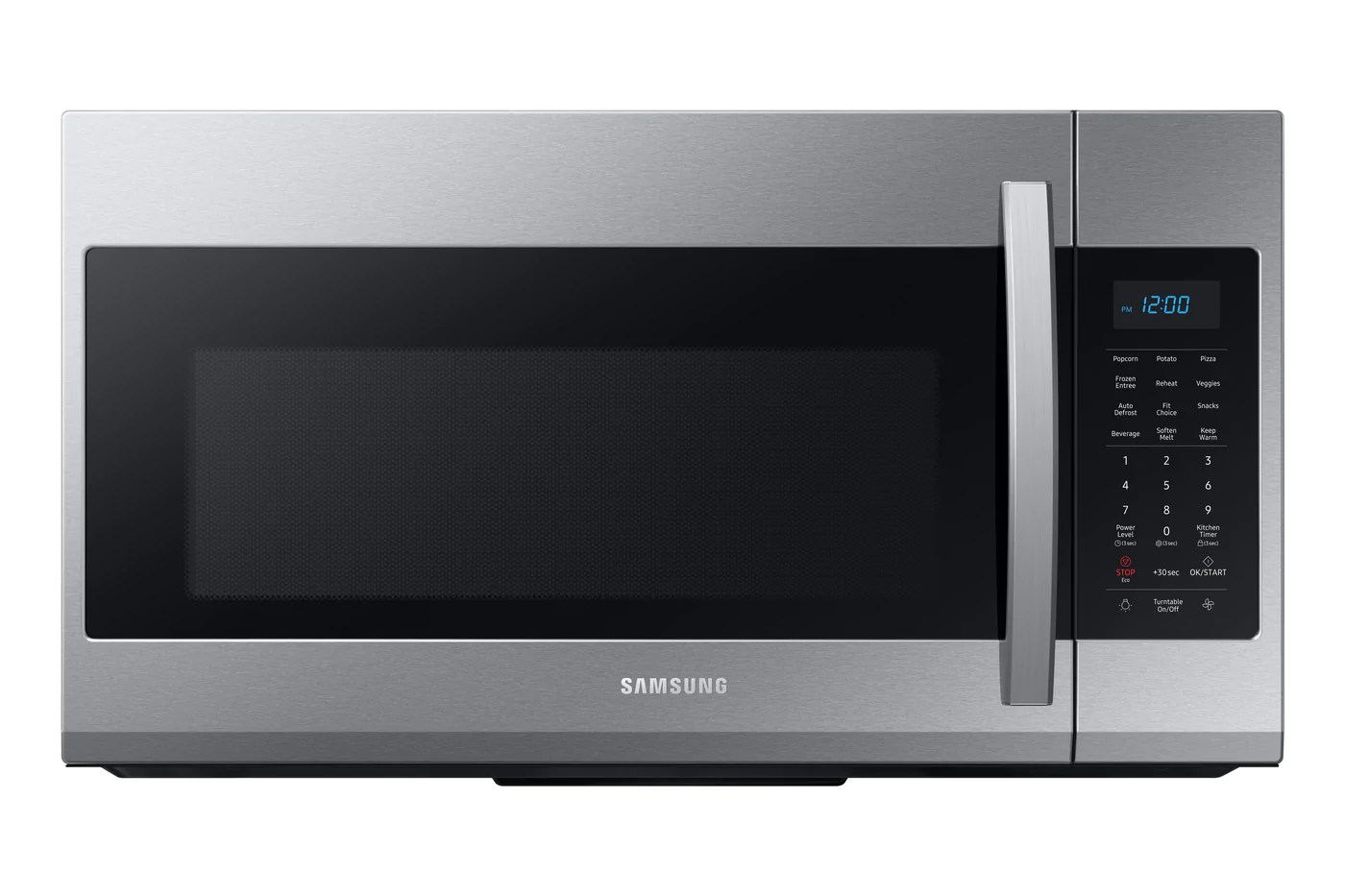 samsung stainless steel over the range microwave 1 9 cu ft me19r7041fs