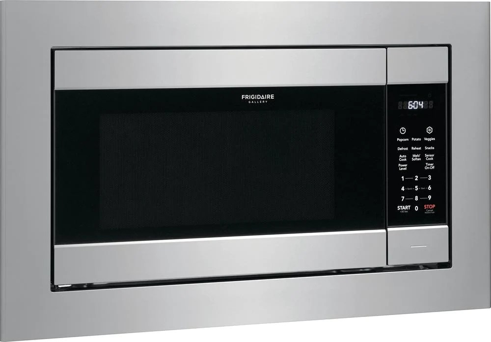 frigidaire gallery smudge proof stainless steel built in microwave 2 2 cu ft cgmo226nuf
