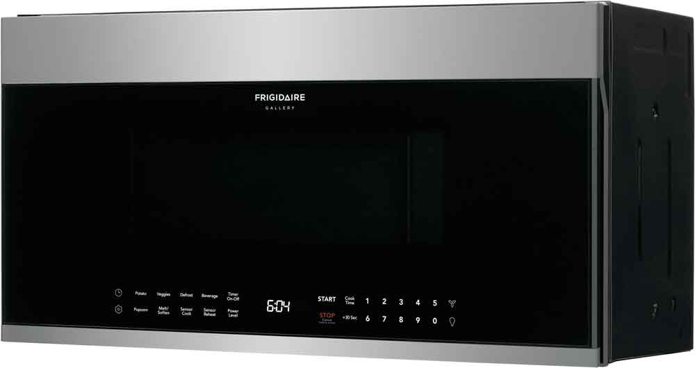 frigidaire gallery smudge proof stainless steel over the range microwave 1 9 cu ft fgbm19wnvf