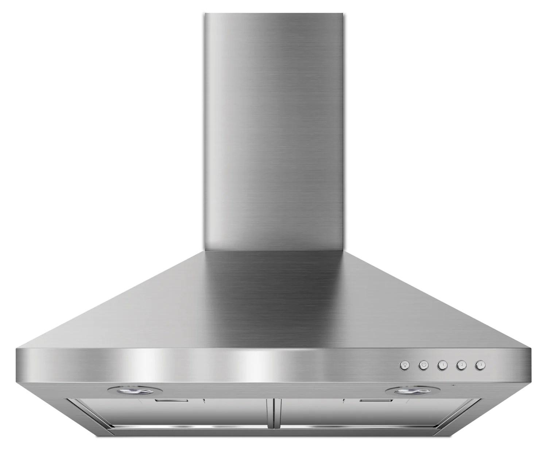 kitchenaid stainless steel 24 inch 300 cfm canopy wall mount range hood uxw7324bss