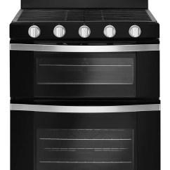 Kitchen Ranges Gas Buy Island Leon S Whirlpool Black Freestanding Double Range 6 0 Cu Ft Wgg745s0fe