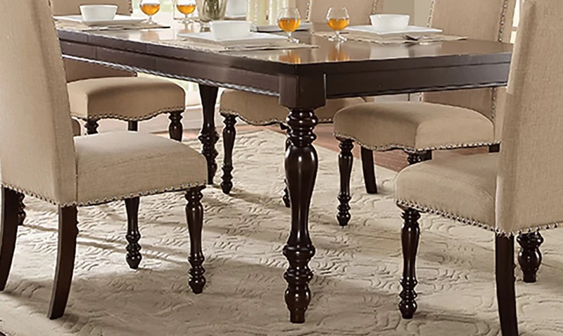 dark kitchen table cabinets prices tables leon s benwick dining cherry