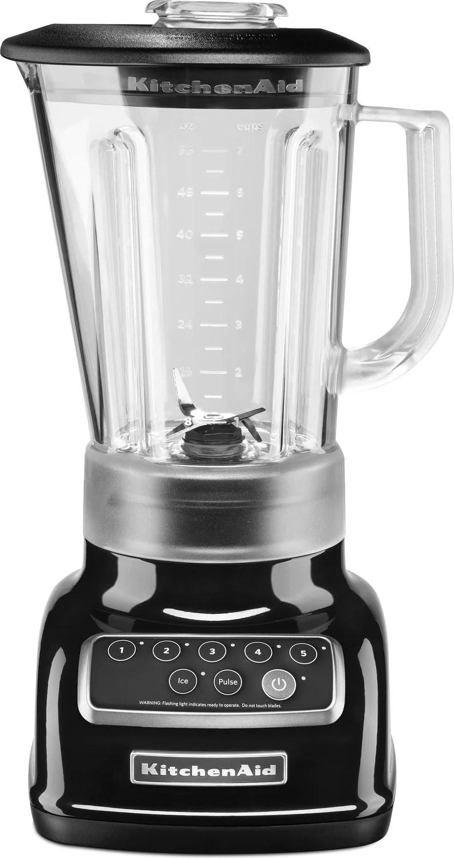kitchen aid 6 ft island kitchenaid onyx black 5 speed classic blender 56 oz ksb1570ob