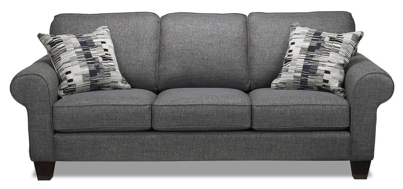 white sofa set living room beach themed furniture sofas leon s drake grey