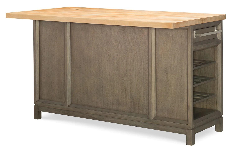 kitchen island set high table rachael ray highline 3 piece greige leon s