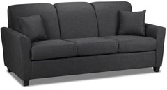 corner sofa bed oslo mini storage container sleep function new foam chair condo living leon s roxanne charcoal
