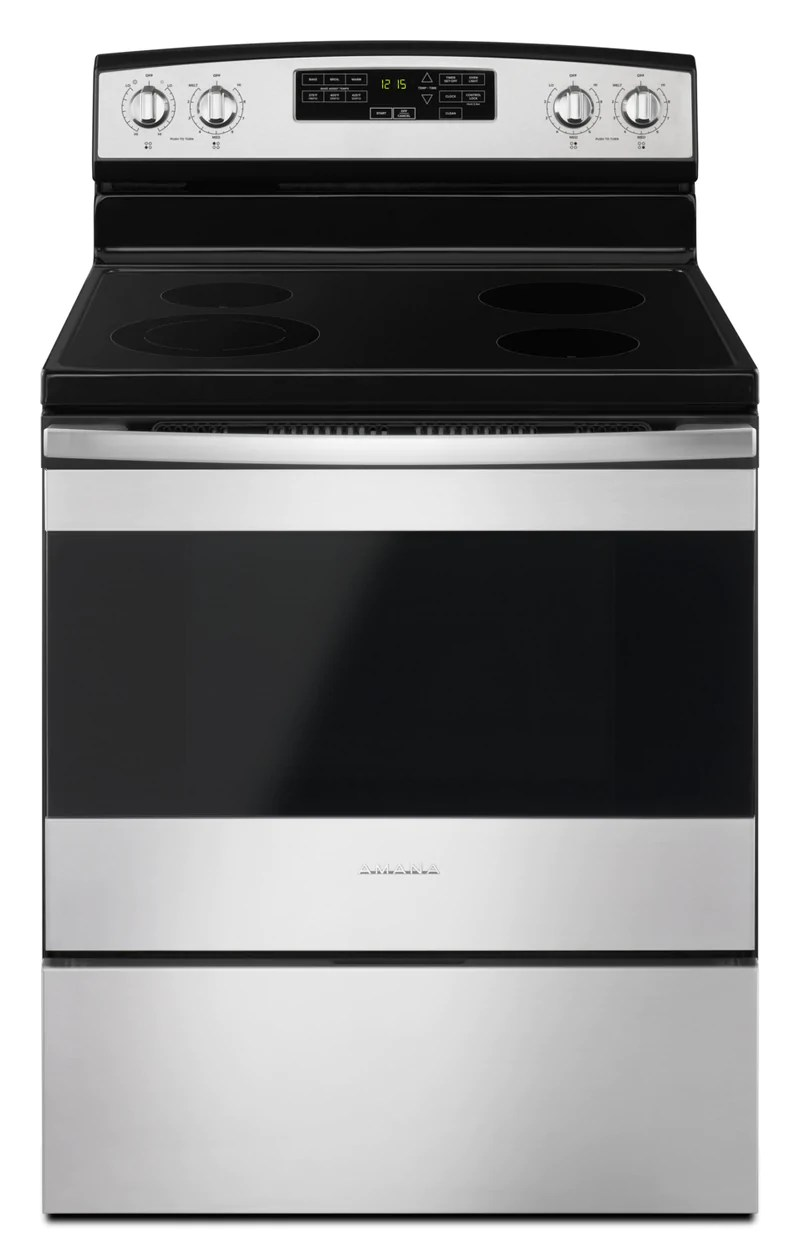 small resolution of amana stainless steel freestanding electric range 4 8 cu ft yaer6603sfs
