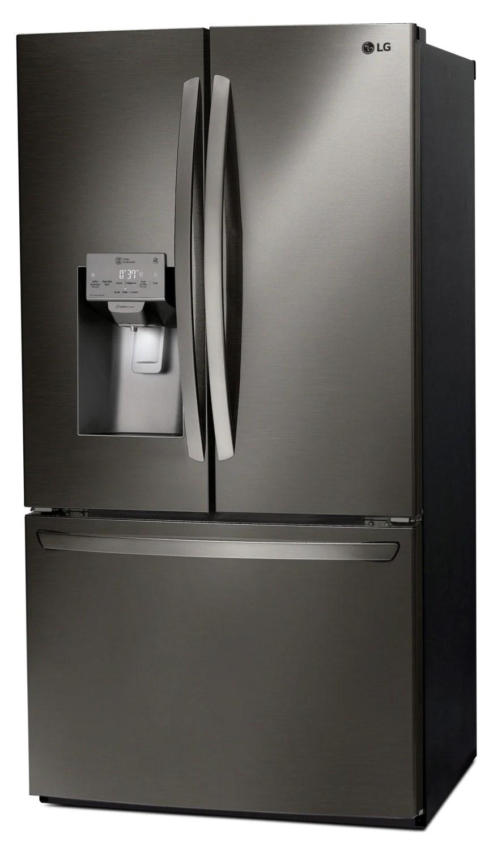 lg kitchen appliances tile backsplash black stainless steel french door refrigerator 27 9 previous next