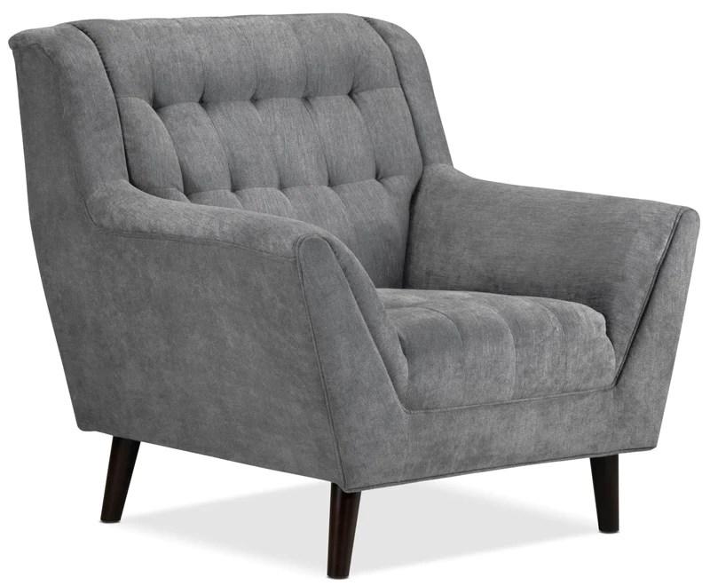grey club chair vintage wood chairs leon s riann