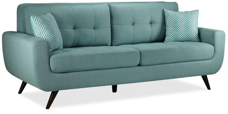 aqua sofa pier one canada table sofas leon s julian teal