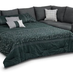 Sofa Befs Mandalay Athina 2 Piece Sectional With Left Facing Queen Bed Charcoal Leon S