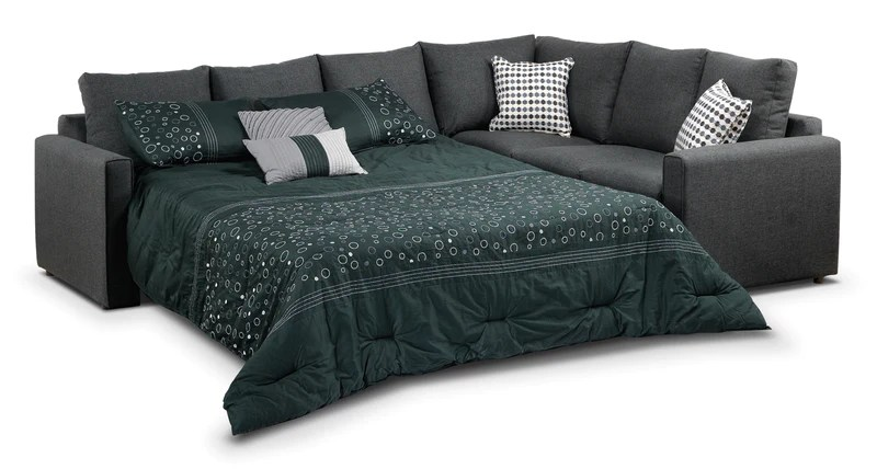 sofa bad company reviews athina 2 piece sectional with left facing queen bed charcoal leon s