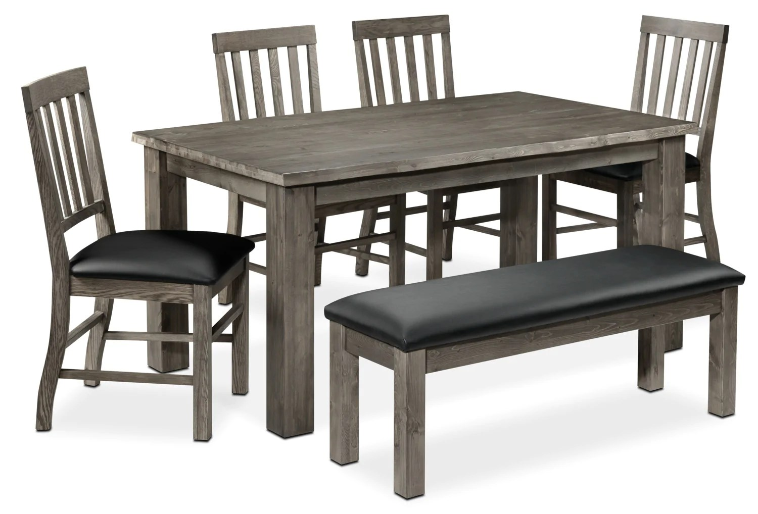 Black Dining Room Table And Chairs Porter 6 Piece Dining Room Set Slate And Black