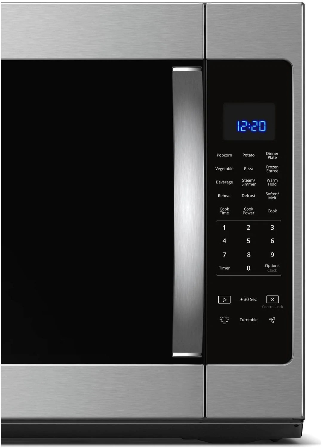 whirlpool stainless steel over the range microwave 2 1 cu ft ywmh53521hz