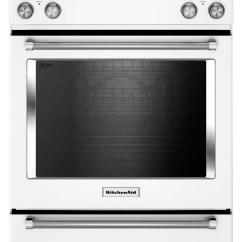 Kitchen Aid Ovens Blenders Kitchenaid White Slide In Electric Convection Range 7 1 Cu Ft Ykseb900ewh