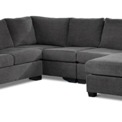 Chesterfield Sectional Sofa Suppliers Leather Sofas Online Canada Furniture Made In Leon S Danielle 3 Piece With Right Facing Corner Wedge Grey