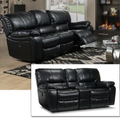 Black Reclining Sofa With Console Sofas Good For Dogs Santorini Power And Loveseat Recently Viewed Items