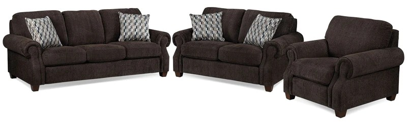 couch and chair set beach thingy instant living room packages leon s barbara sofa loveseat espresso