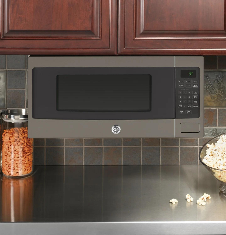 ge profile slate countertop microwave 1 1 cu ft pem10slfc