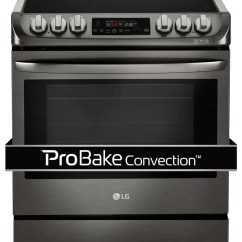 Kitchen Ovens Outdoor Kitchens Lowes Ranges Leon S Lg Appliances Black Stainless Steel Slide In Electric Range 6 3 Cu Ft