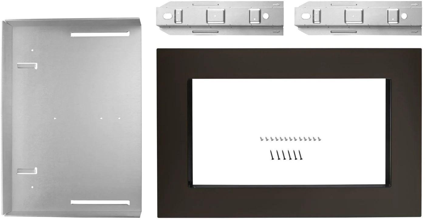 whirlpool black stainless steel 30 inch microwave trim kit mk2160av