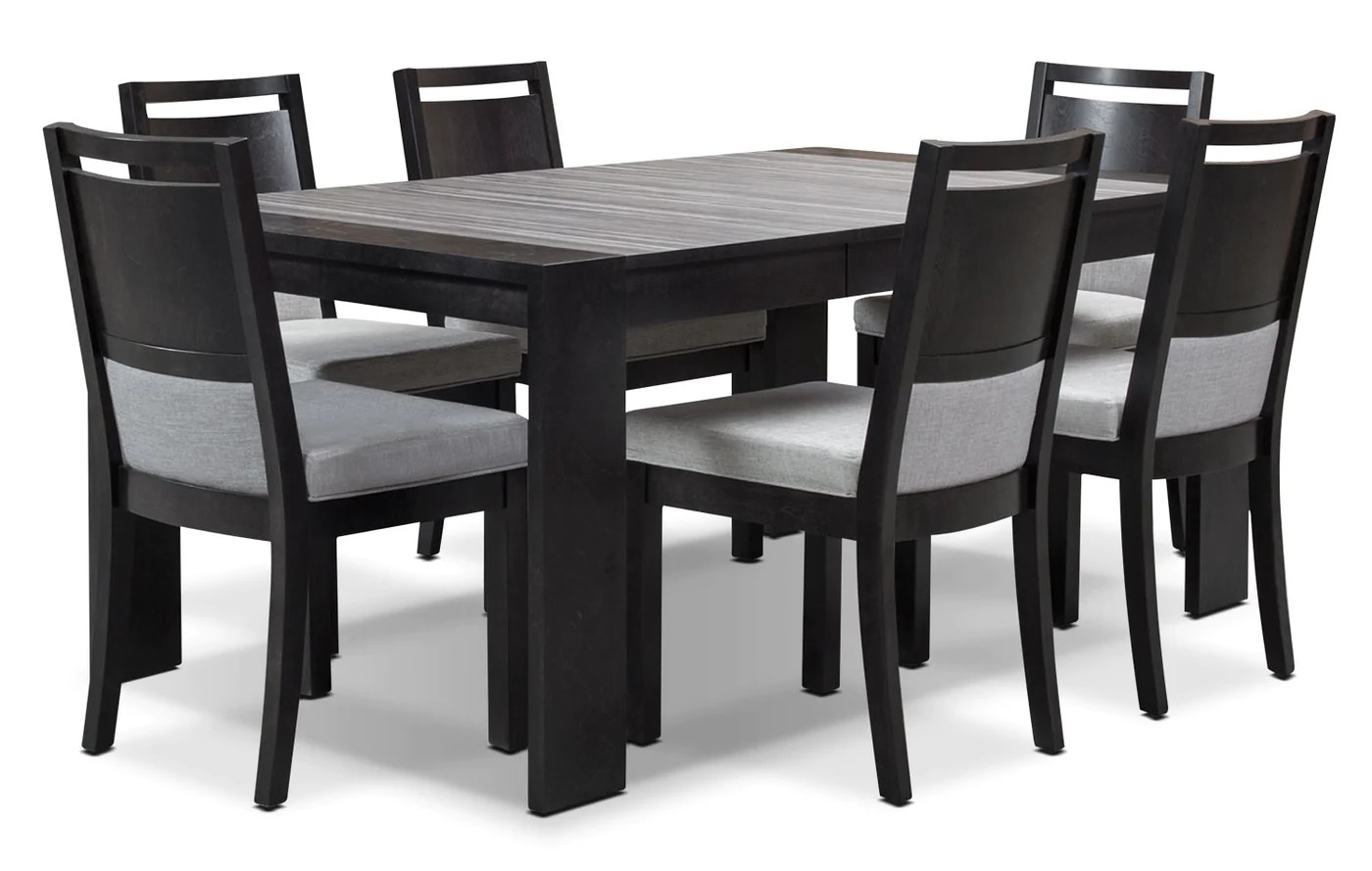 Black Dining Room Table And Chairs Khala 7 Piece Dining Room Set Espresso