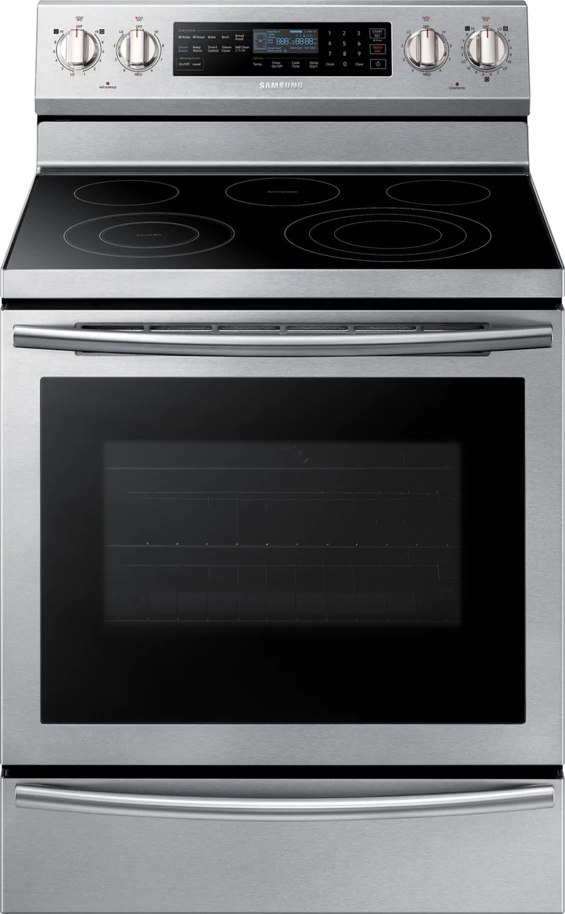 kitchen stoves can lights ranges leon s samsung stainless steel freestanding electric convection range 5 9 cu ft ne59n6650ws