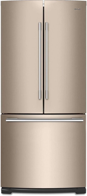 bronze kitchen appliances free 3d design software whirlpool sunset french door refrigerator 20 cu ft wrfa60smhn leon s