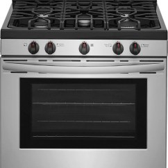 Kitchen Stove Gas Light Fixtures Ranges Leon S Frigidaire Stainless Steel Freestanding Range 5 0 Cu Ft Ffgf3054ts