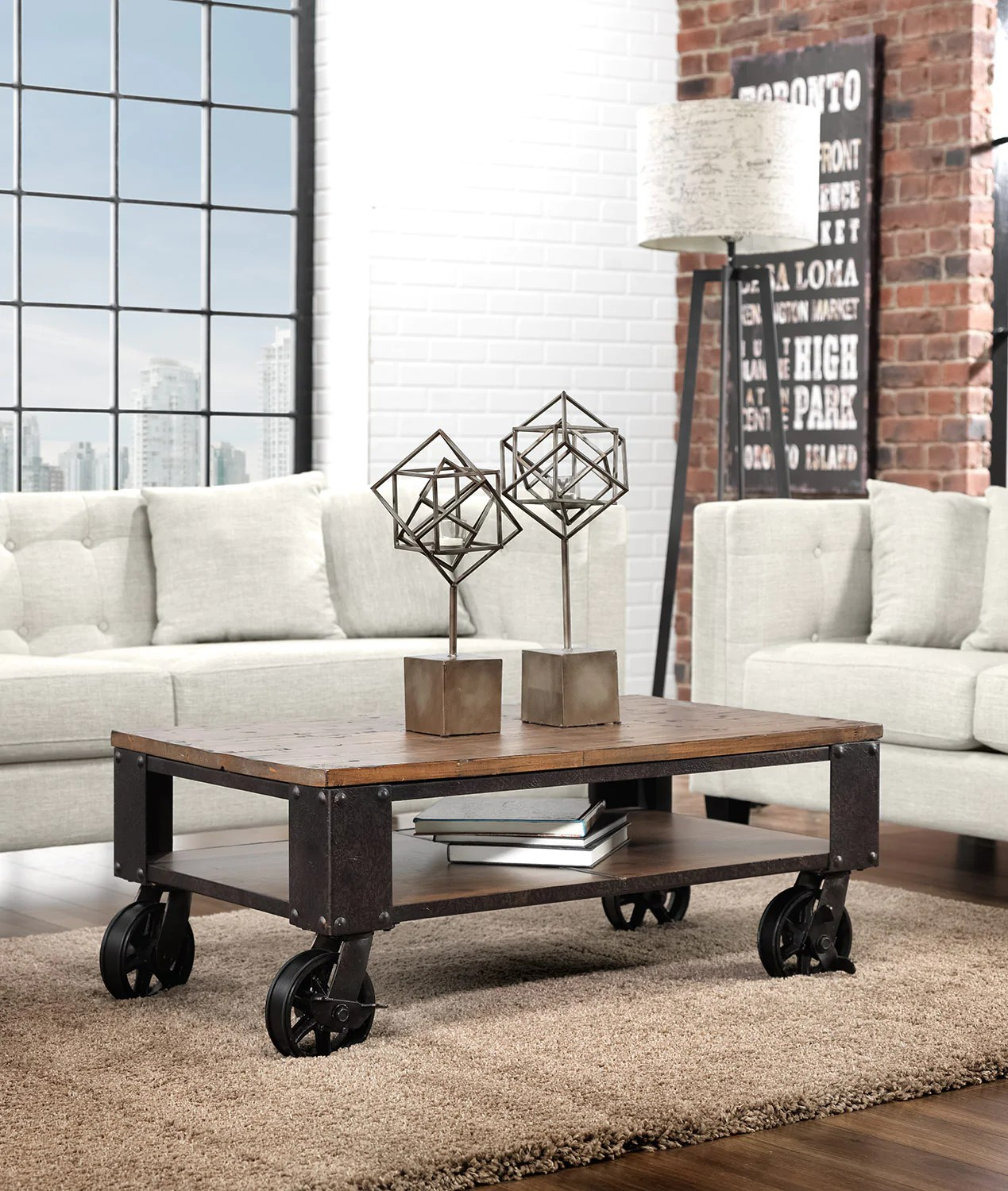 pinebrook condo coffee table distressed natural pine