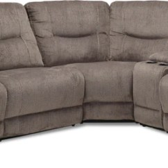 Recliner Sectional Sleeper Sofa Small Corner Unit Sectionals Leon S Colorado 5 Piece Reclining Grey