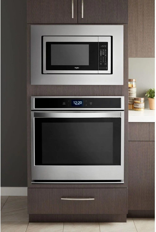 whirlpool stainless steel 30 inch microwave trim kit mk2160az