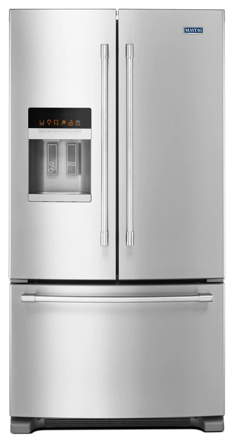 maytag kitchen appliances the honest dog food reviews stainless steel french door refrigerator 25 cu ft mfi2570fez